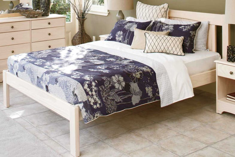 Calais King White Wash Bed Frame by Coastwood Furniture