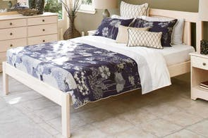 Calais Super King White Wash Bed Frame by Coastwood Furniture