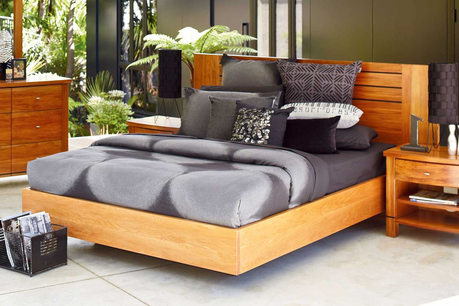 Vision Float Rimu Queen Bed Frame By Ezirest Furniture Harvey Norman New Zealand