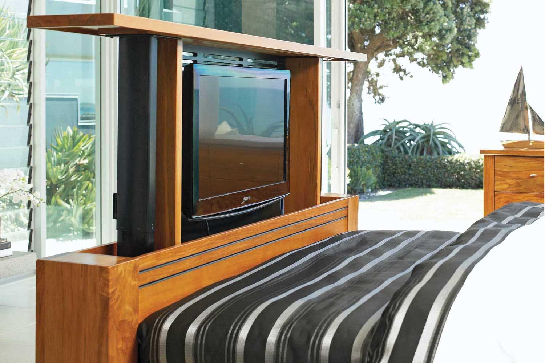 Vision Rimu King TV Bed Frame by Ezirest Furniture   Harvey Norman ...