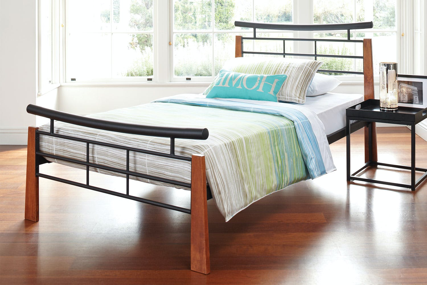 Kingsway King Single Bed Frame by Nero Furniture | Harvey Norman New ...