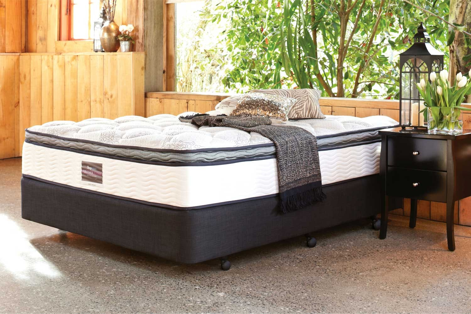 Liberty Medium Queen Bed by Sleepmaker