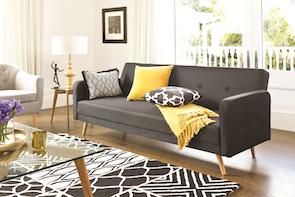 Bergen Sofa Bed Black - Fabric