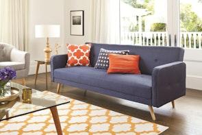 Bergen Sofa Bed Blue - Fabric