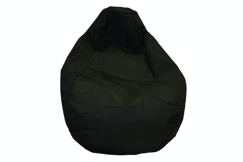 Studio Premium Canvas Bean Bag by Dunlop Living -  Black