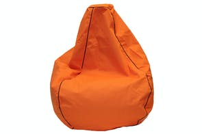 Studio Premium Canvas Bean Bag by Dunlop Living - Orange