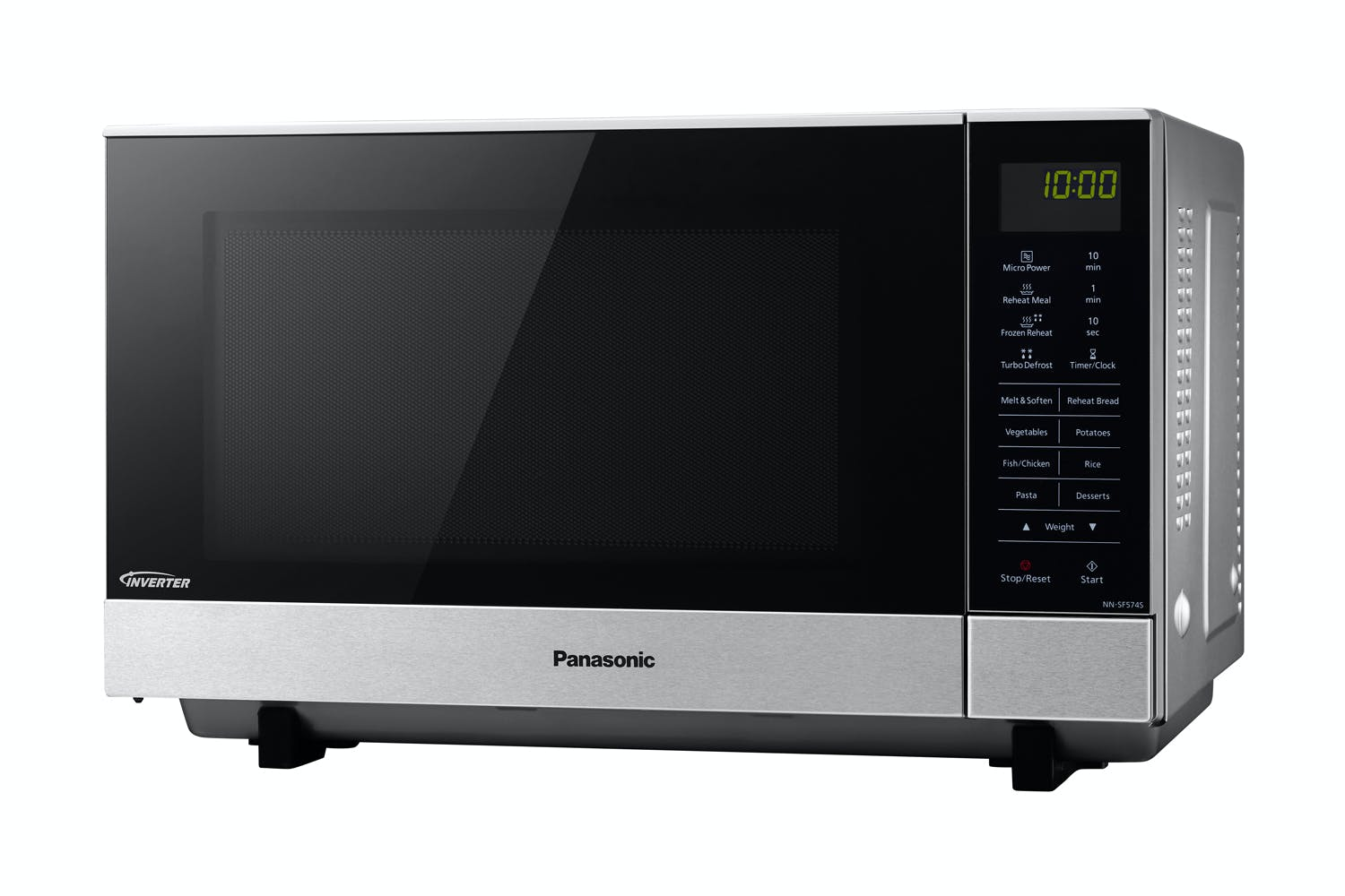 panasonic 27l flatbed inverter microwave oven stainless steel harvey norman new zealand. Black Bedroom Furniture Sets. Home Design Ideas