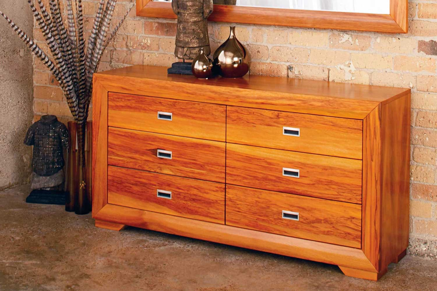 Raglan 6 Drawer Lowboy by Ezirest Furniture