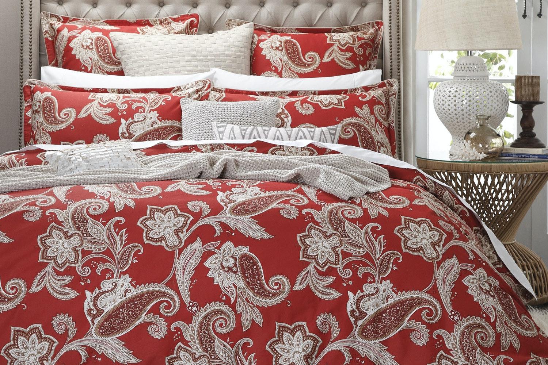 Alexandra Red Duvet Cover