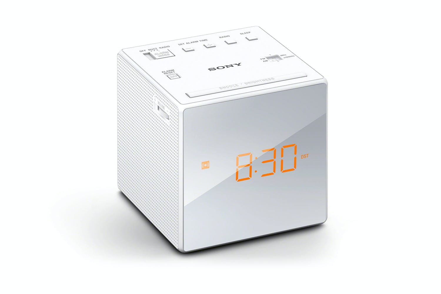 sony alarm clock radio white harvey norman new zealand. Black Bedroom Furniture Sets. Home Design Ideas