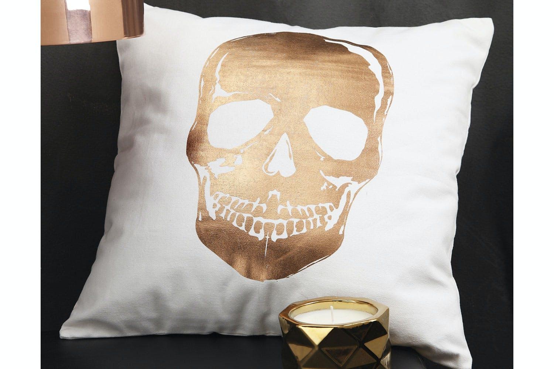 Skull Gold Cushion - Ultima | Harvey Norman New Zealand