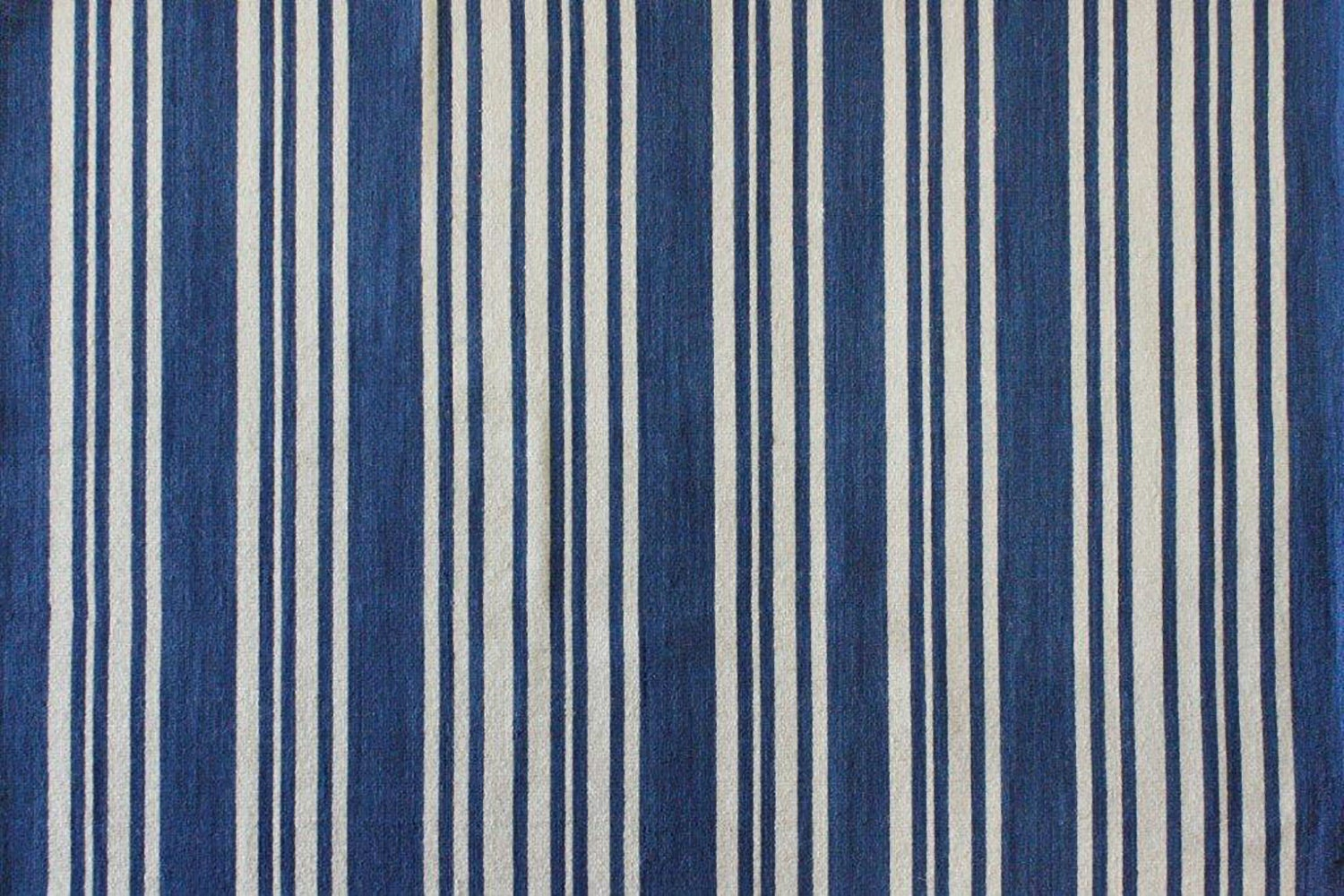 Newport Stripe Floor Rug -  Marine Blue