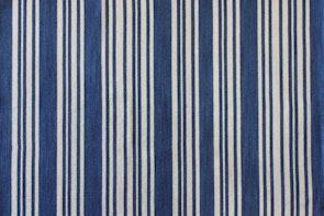 Newport Stripe Floor Rug -  Marine Blue
