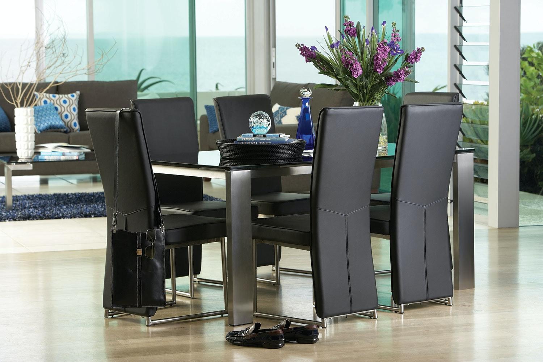 longitude 7 piece dining suitedebonaire furniture | harvey