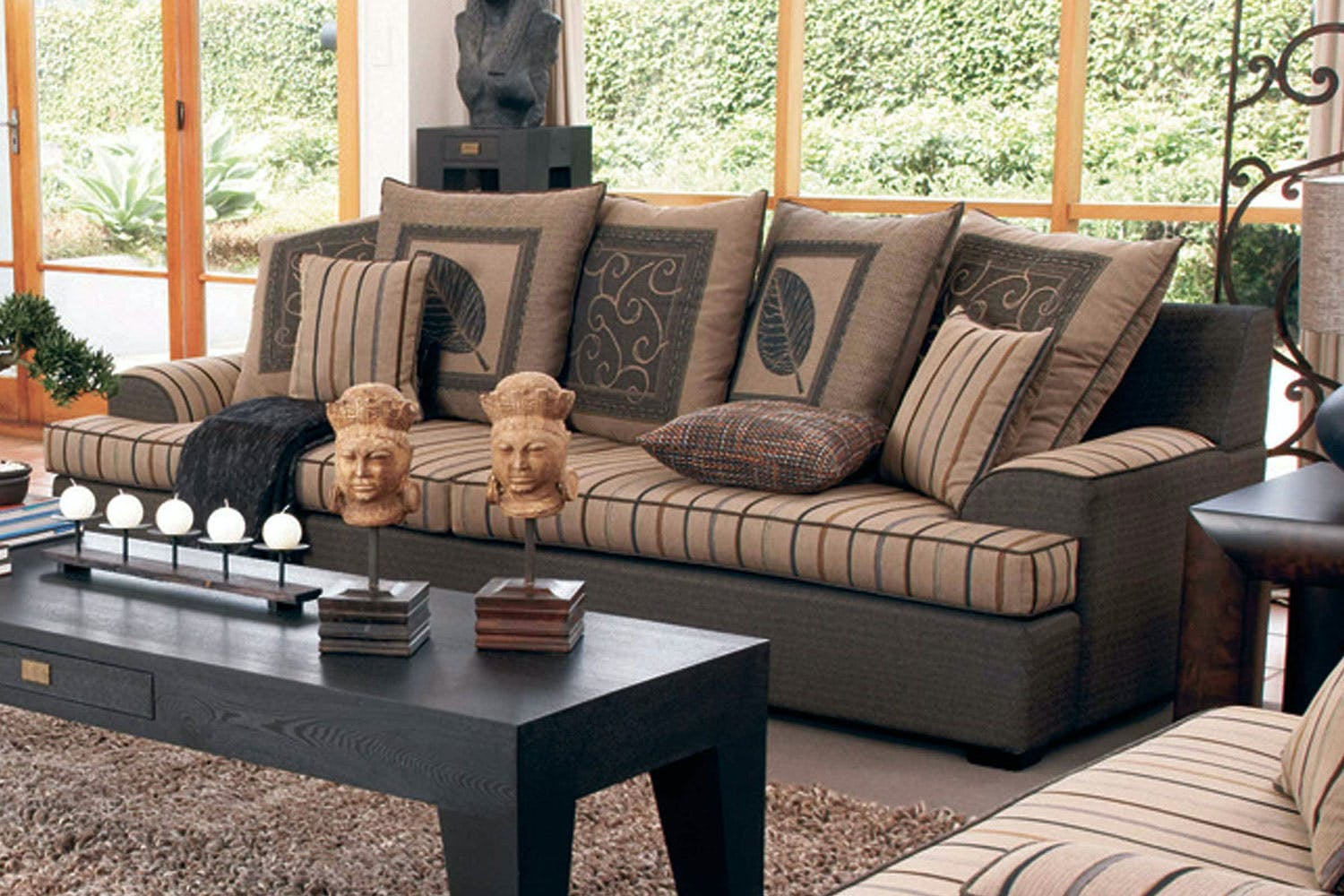 Key West 3 Seater Fabric Sofa by Furniture Haven | Harvey ...