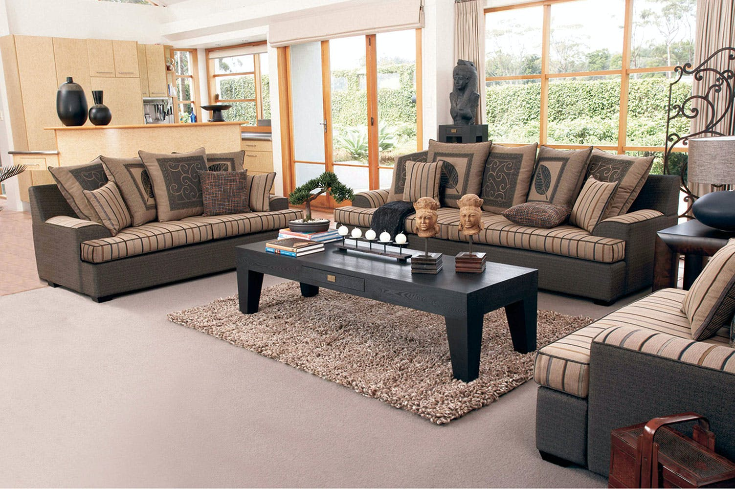 Key west 2 piece fabric lounge suite by furniture haven - Harvey norman living room furniture ...