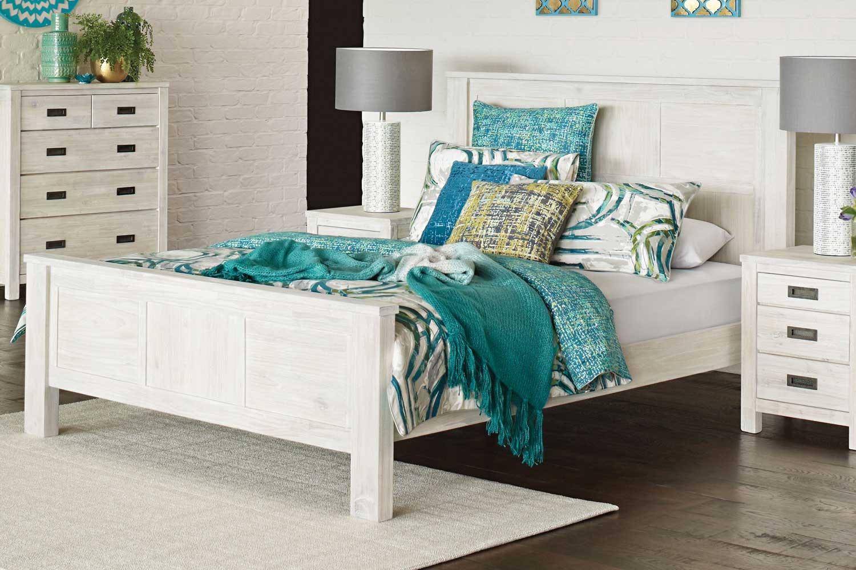 White Wash Bed Frame
