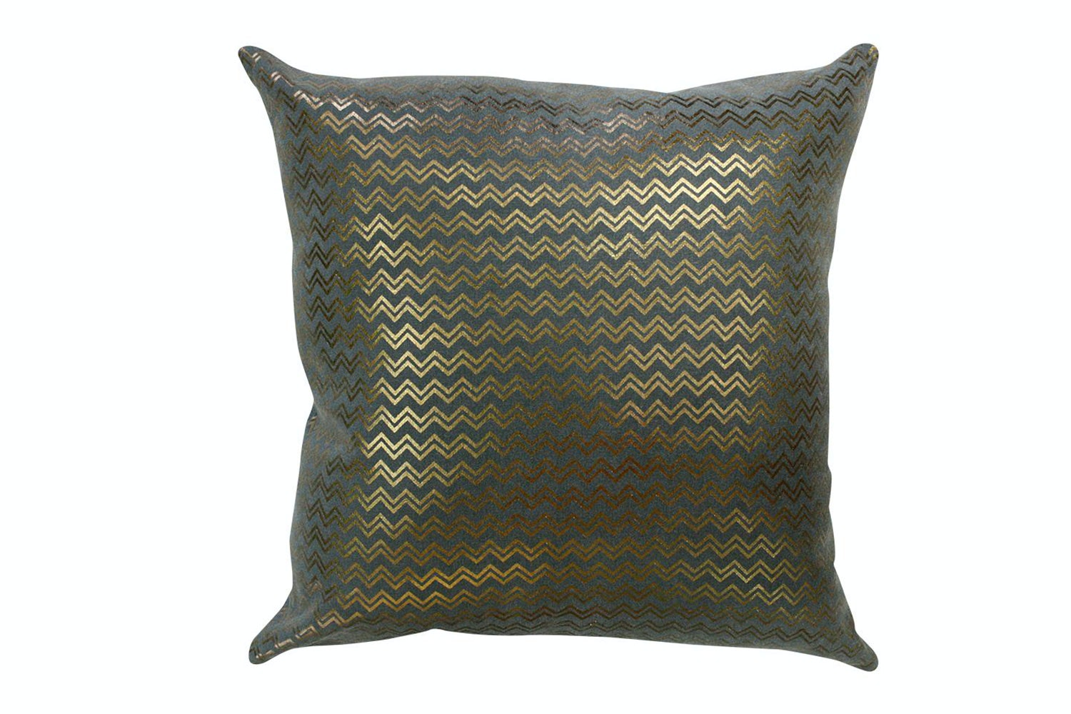 Shimmering Waves Copper Charcoal Cushion - Limon