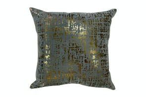 Hessian Copper Charcoal Cushion - Limon