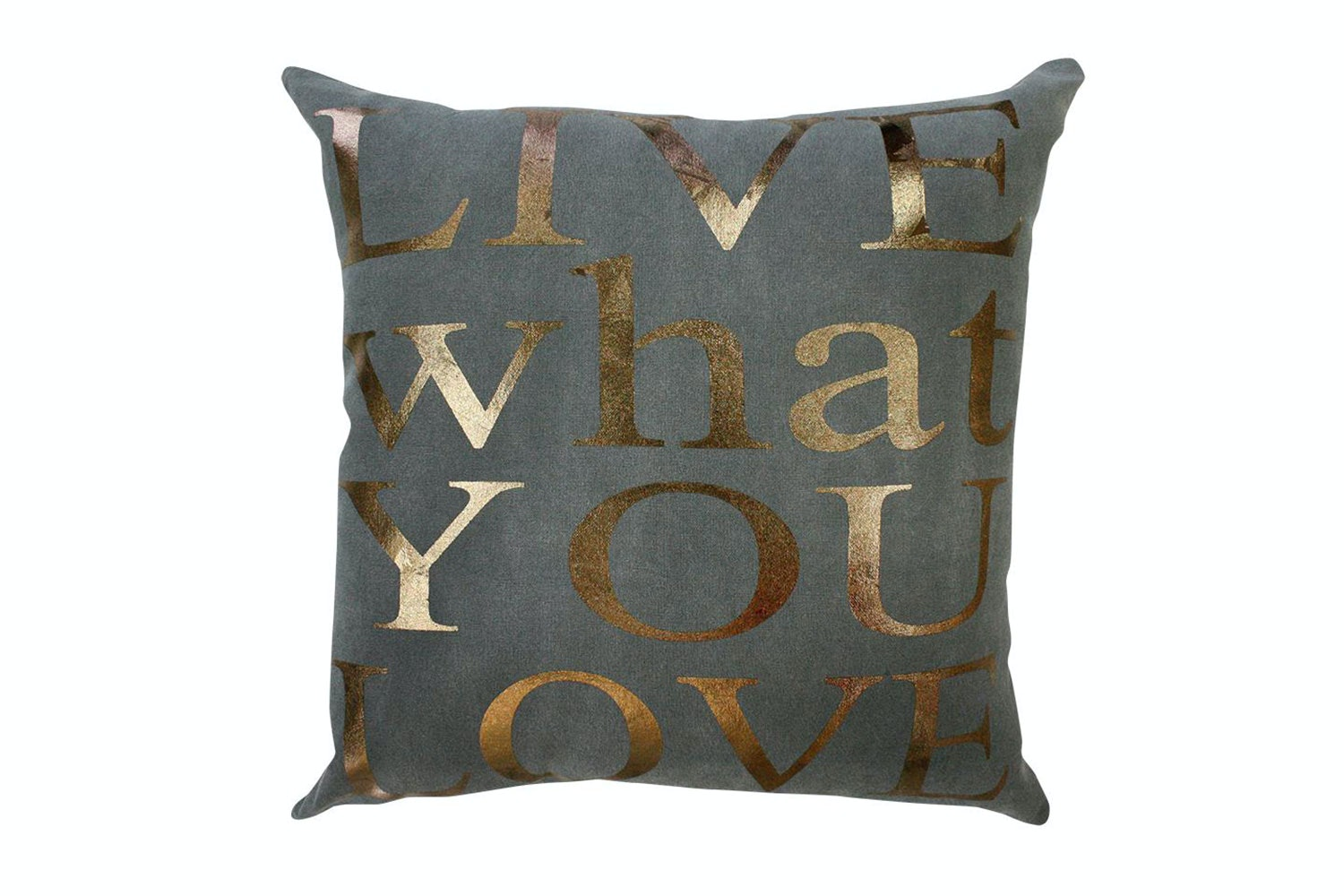 Live What You Love Copper Charcoal Cushion - Limon