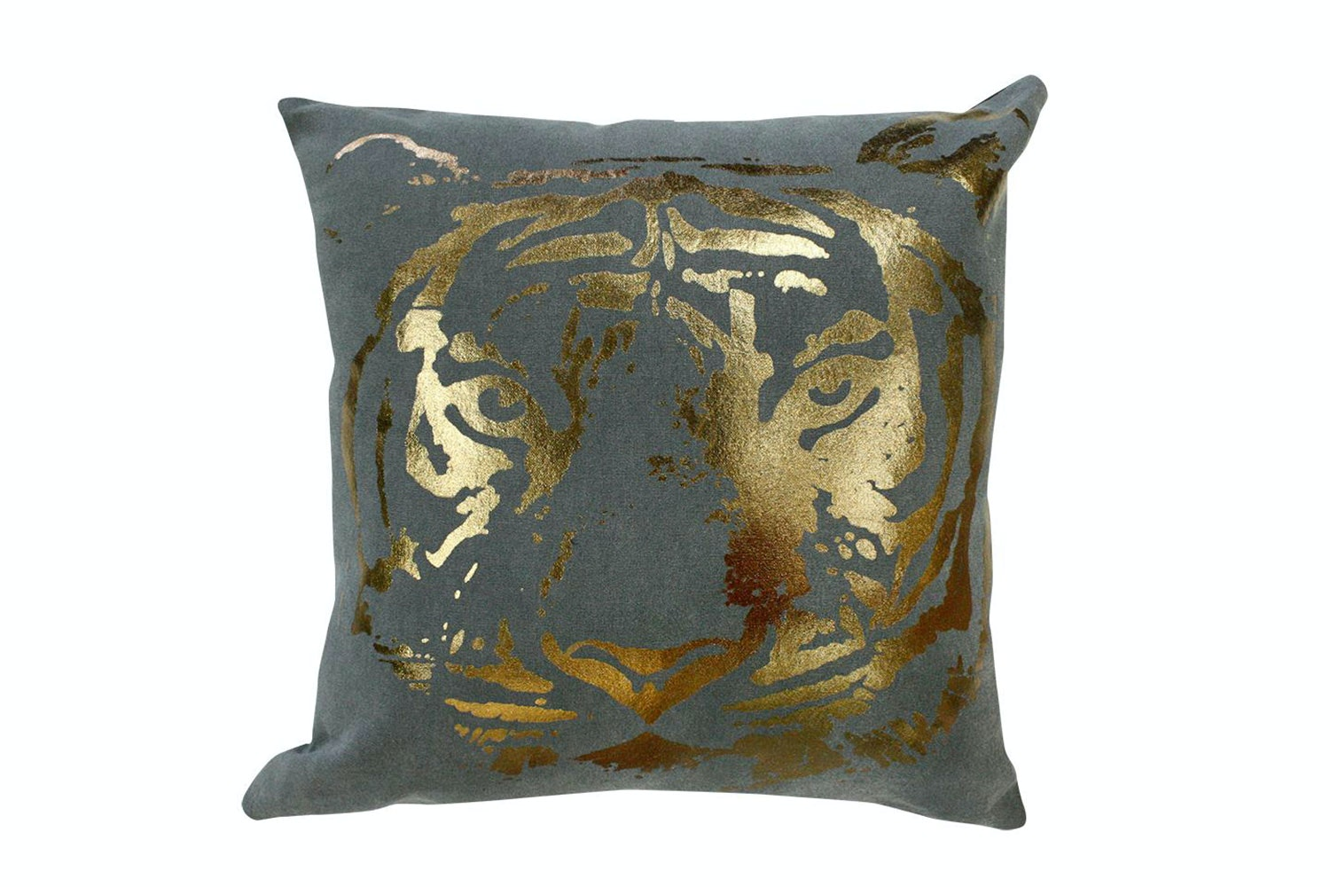 Waiting Tiger Copper Charcoal Cushion - Limon