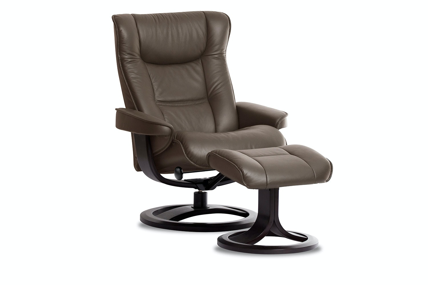 Brage Leather Recliner Chair and Footstool - Large -Trend - IMG