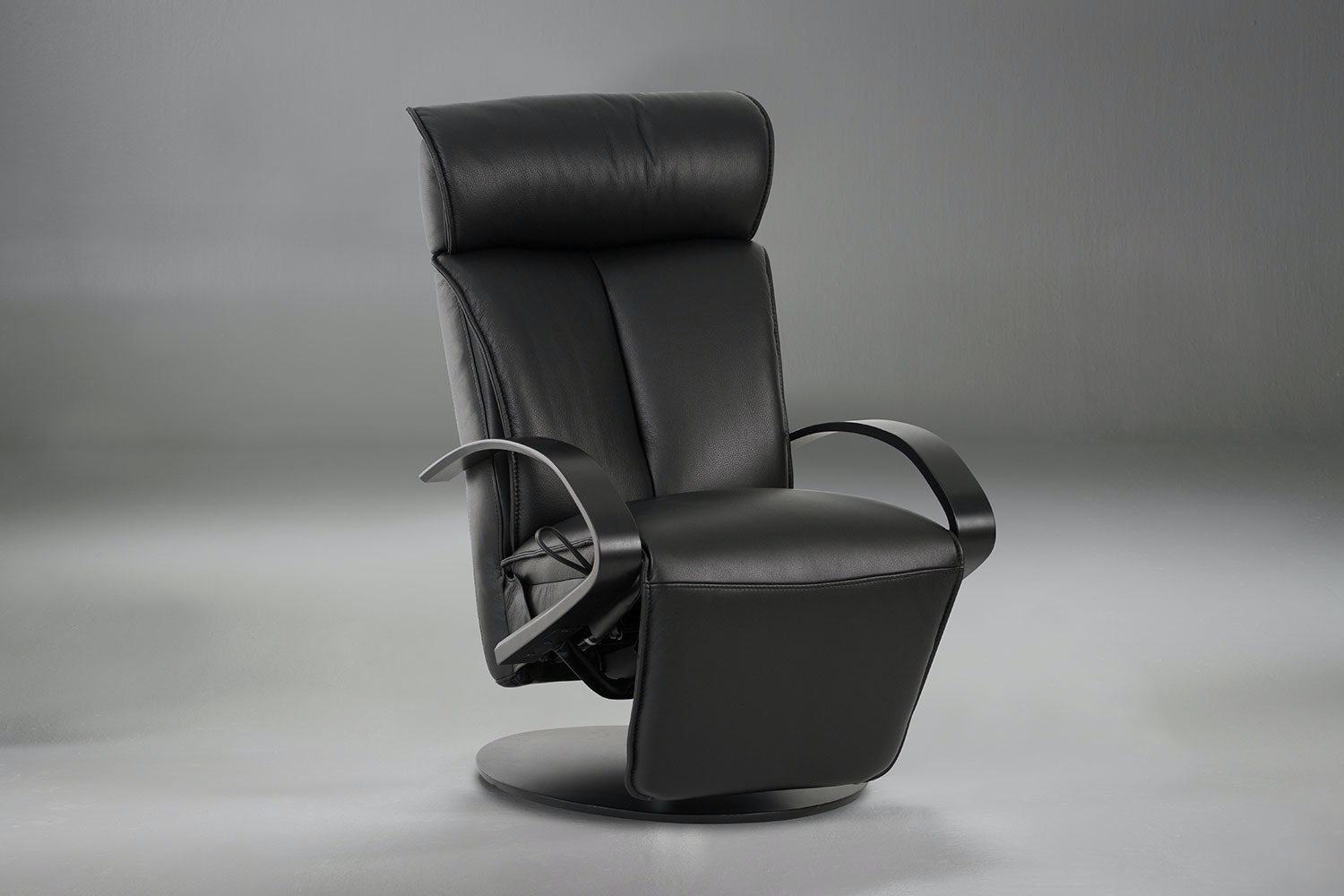 Codi Leather Recliner Chair and Footstool - Elite  IMG
