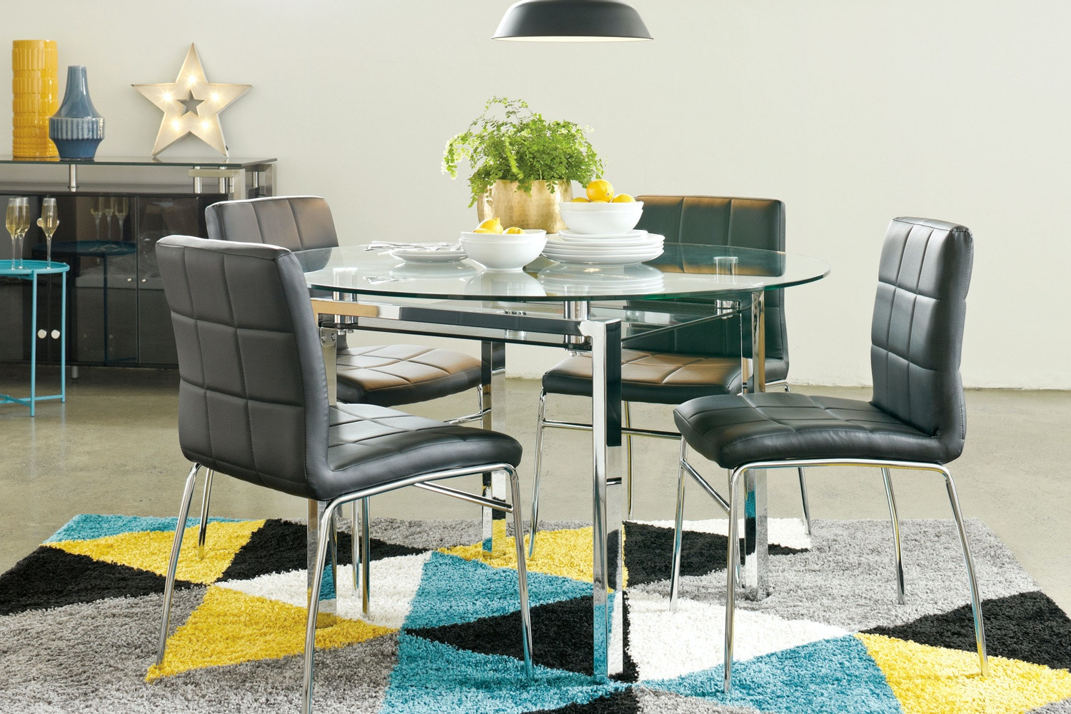 Calem 5 Piece Round Dining Suite by Synargy