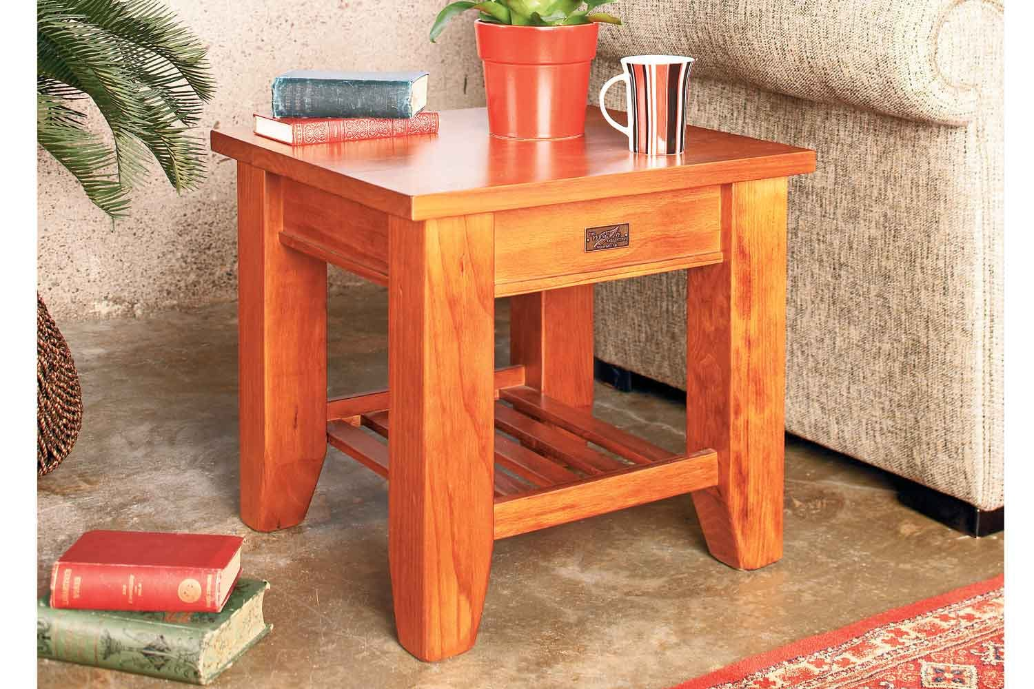 Ferngrove lamp table with rack by coastwood furniture for Lamp table harvey norman