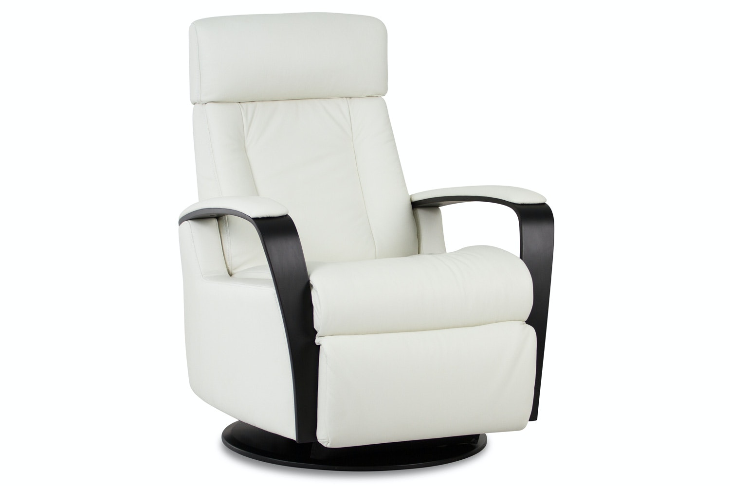 Lotus Recliner Chair - Leather and Wood - Large - Trend- IMG