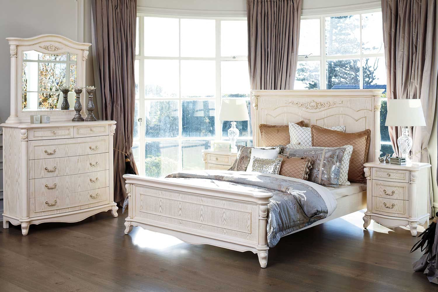 Chateau bedroom suite by sorensen furniture harvey - How to furnish a small bedroom ...