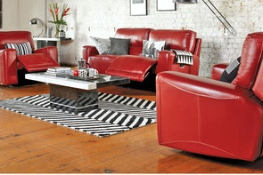 Verona 3 Piece Leather Recliner Lounge Suite - Synargy
