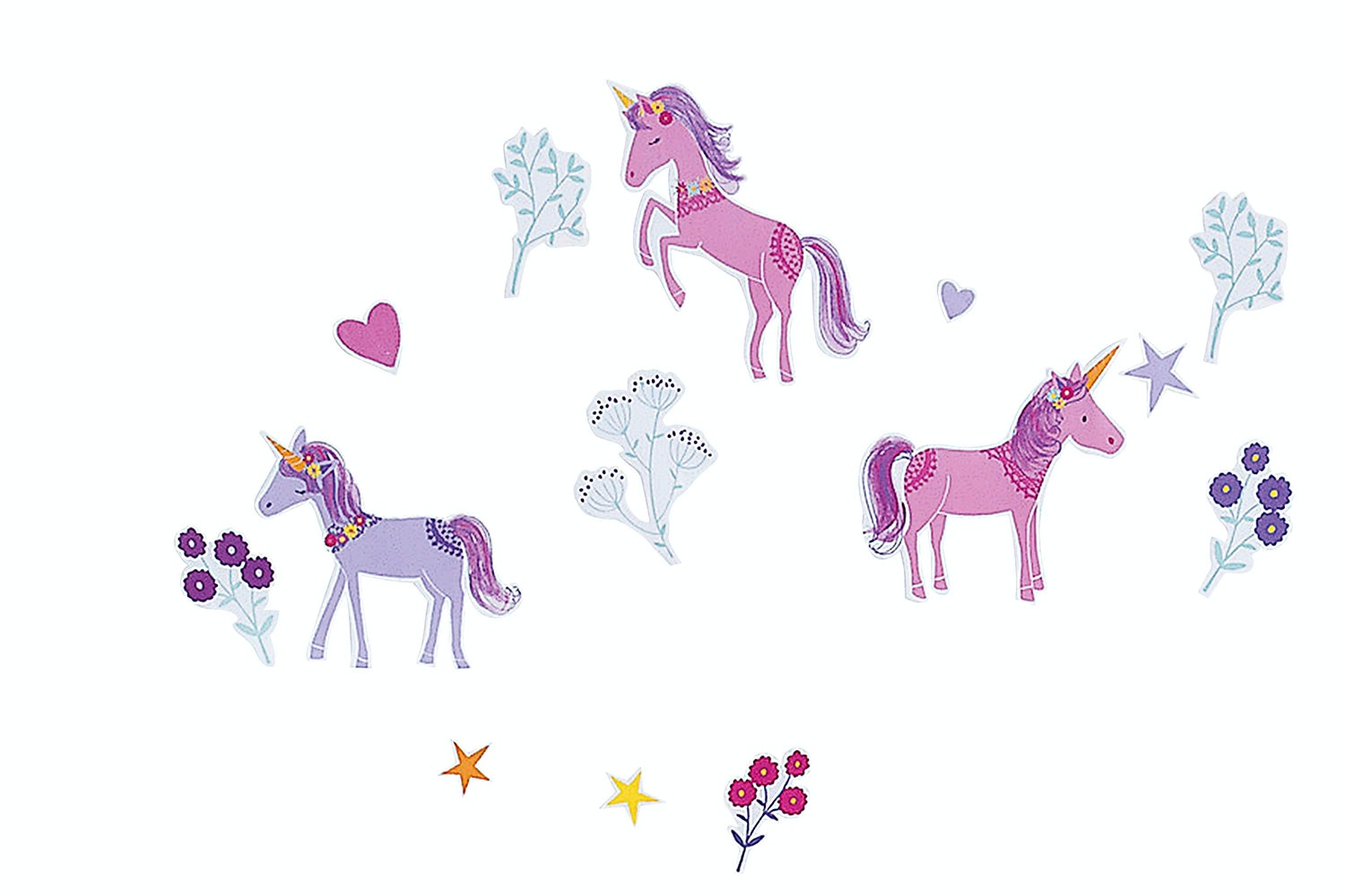 Magical Unicorns Wall Stickers by Squiggles