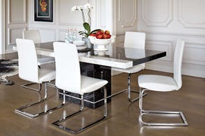 Pienza Dining Rectangular Dining Table - Nero  -Collage