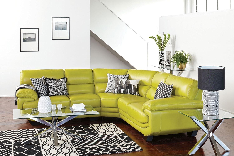 Centro 5 Seat Leather Corner Lounge  Suite - La Z Boy