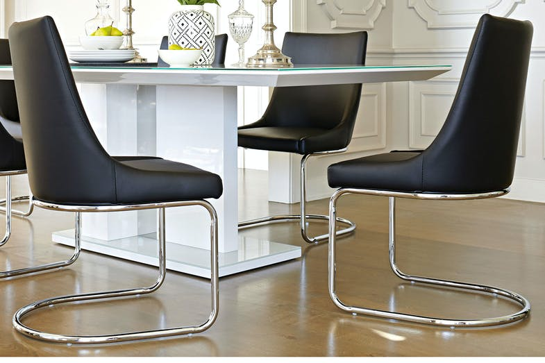 Senti Dining Chair Black - Insato Furniture