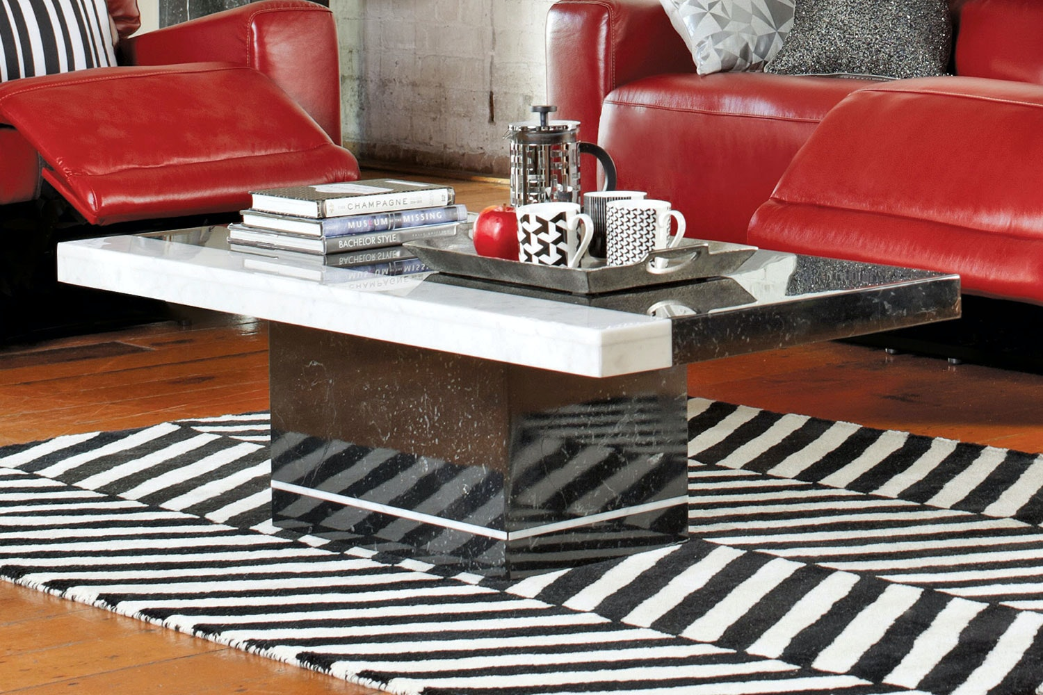Pienza Coffee Table -Nero - Collage