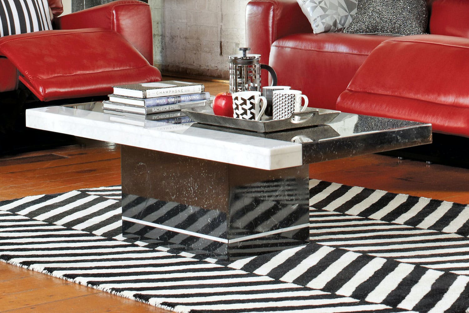 Pienza Coffee Table Nero Collage