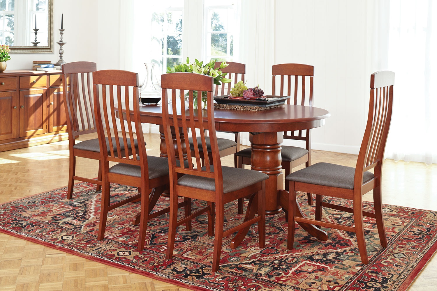 Caprice 7 Piece Extension Dining Suite by Nero Furniture