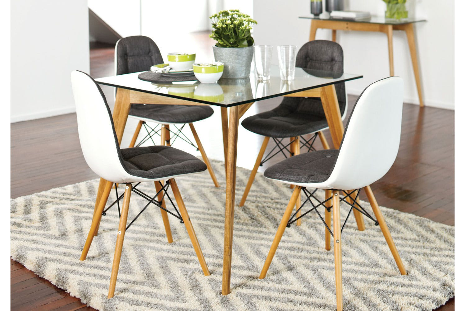 Barcelona 5 Piece Square Dining Suite By Paulack Furniture