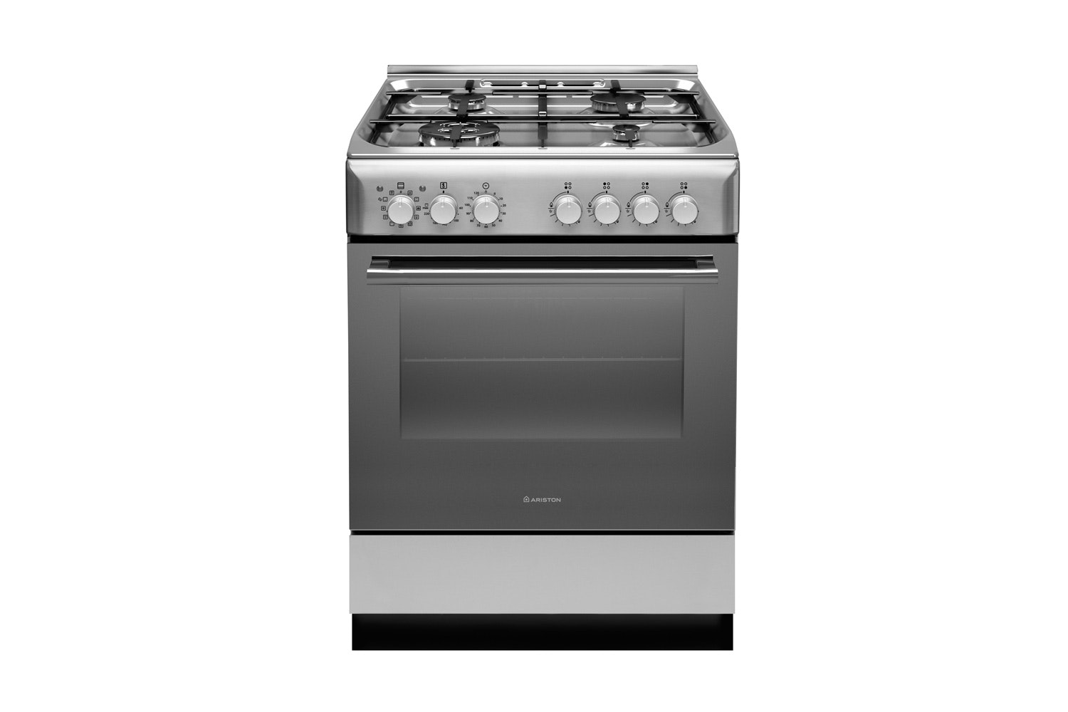 Ariston 60cm Freestanding Electric Oven With Gas Cooktop   Stainless Steel  | Harvey Norman New Zealand
