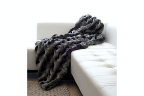 Heirloom Raunched Chinchilla Throw By Heirloom
