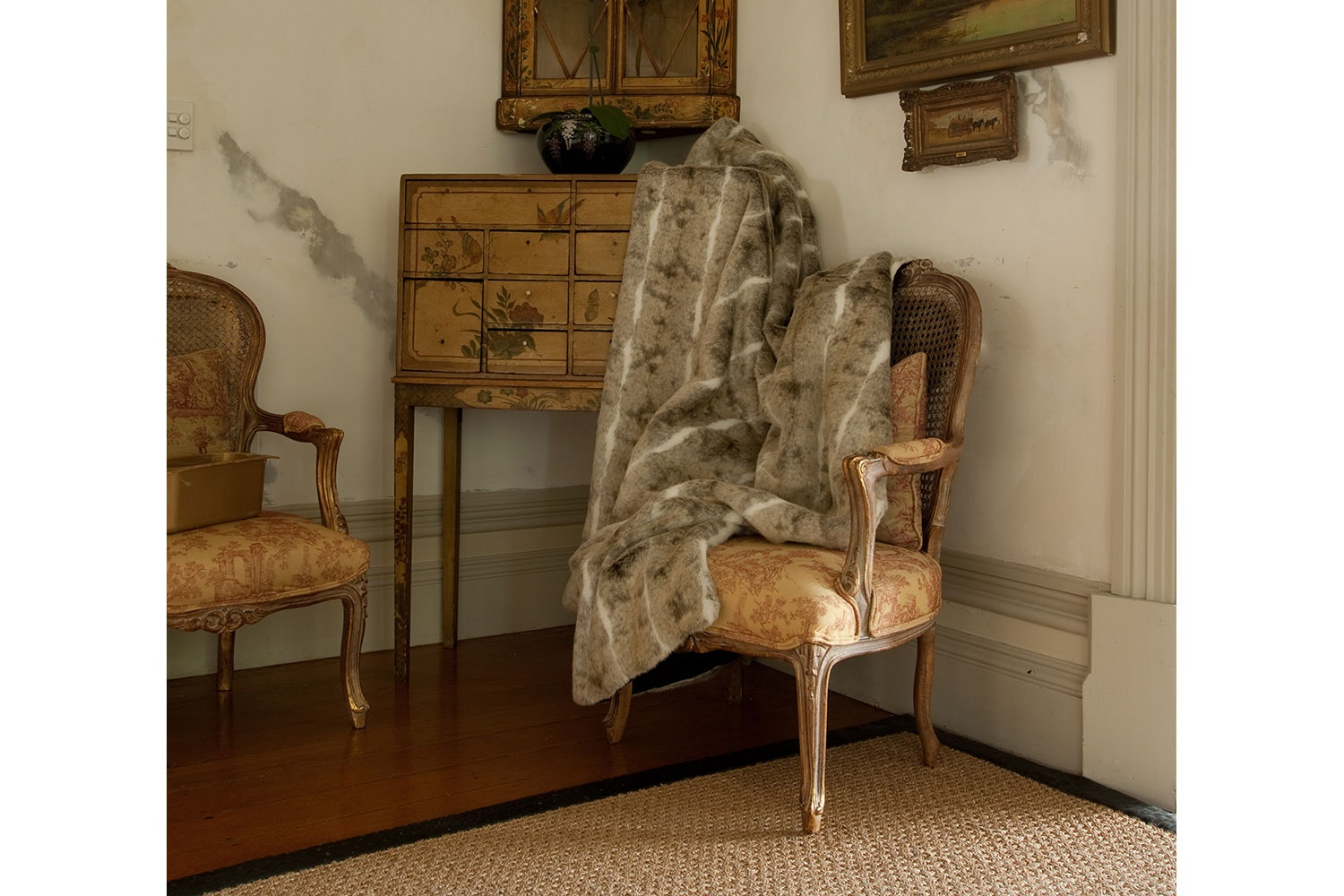 Heirloom Beige Rabbit Throw by Heirloom