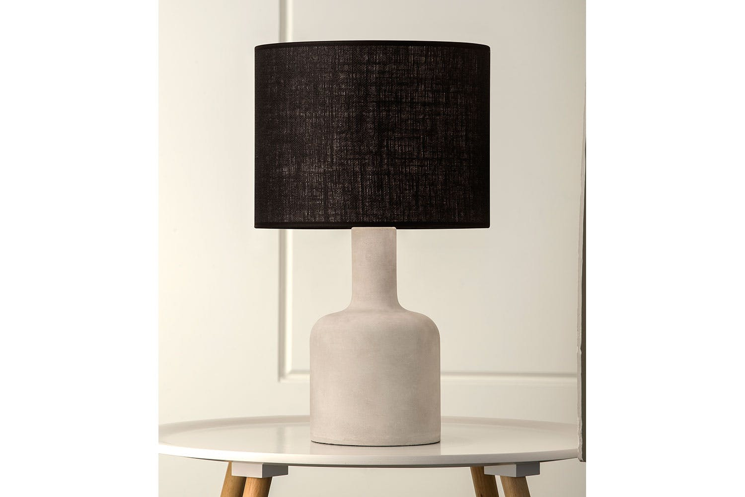 Tomahawk cement table lamp by mayfield harvey norman new for Lamp table harvey norman