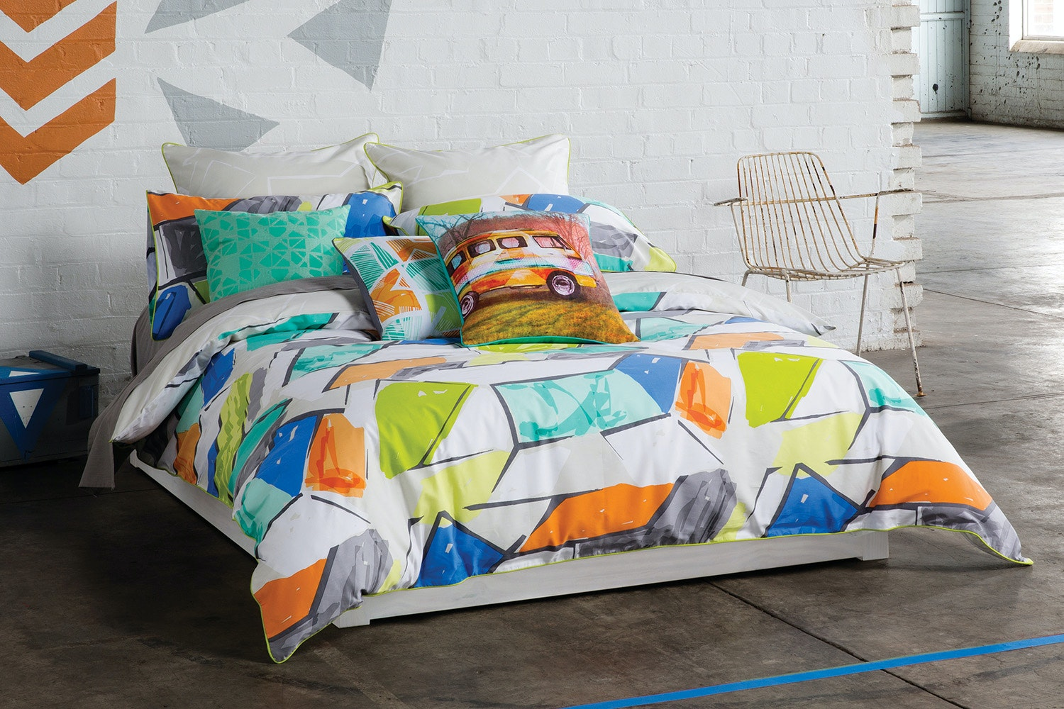 Addy Multi Duvet Cover by Kas