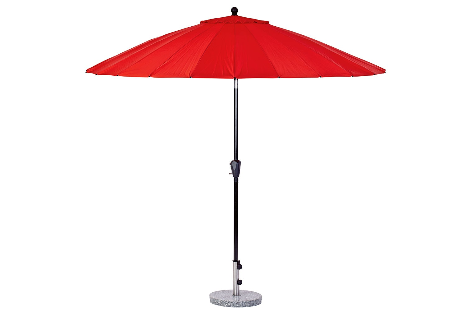 Oriental 2.7m Red Outdoor Umbrella with 25kg  Granite Base by Peros