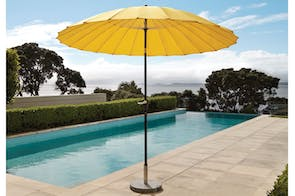 Oriental 2.7m  Yellow Outdoor Umbrella with 25kg  Granite Base by Peros