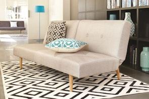 Athens Sofa Bed light Grey -  Fabric
