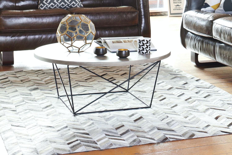 Oak Veneer Coffee Table by Robert Mark Limited