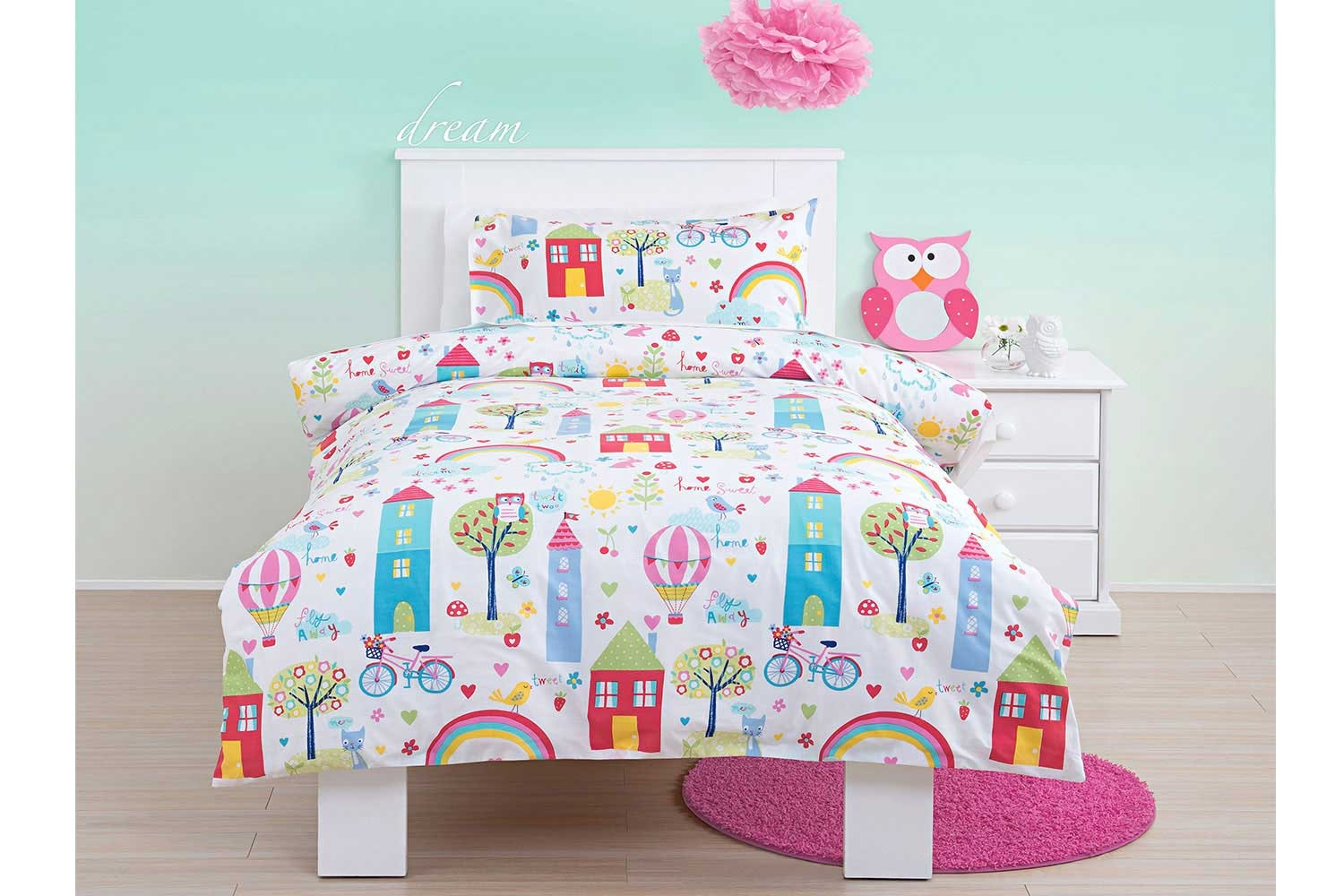 Girl Town Duvet Cover Set - Squiggles